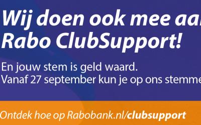 Rabobank verdeelt €100.000 via Rabo ClubSupport